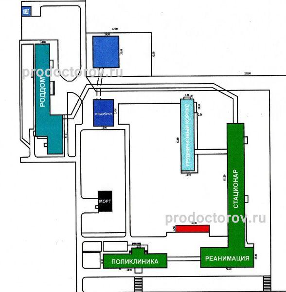 Детская больница 5 - План-схема.