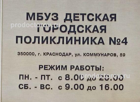 поликлиники №4 Краснодара