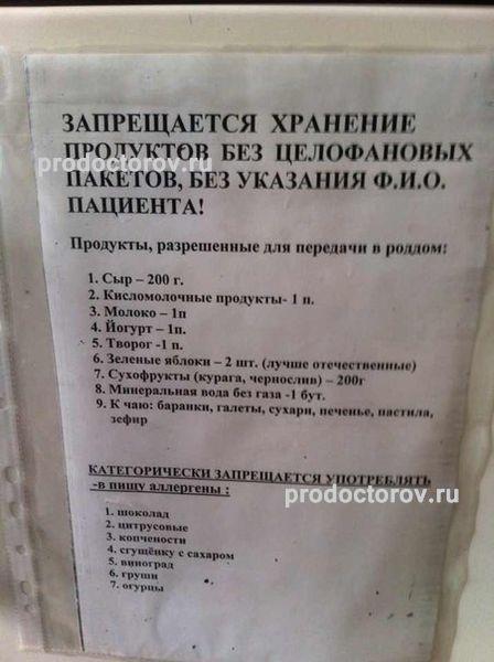 Список вещей в роддом на березовой