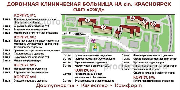 Дорожная клиническая больница на ст Красноярск - РЖД