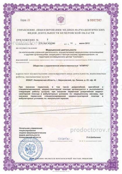 выдача лицензии на медицинскую деятельность