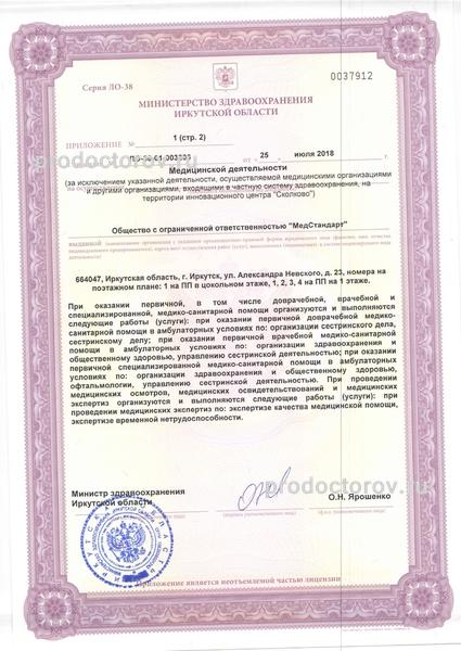 Офтальмологическая клиника «МедСтандарт» - 8 врачей, 115 отзывов ...