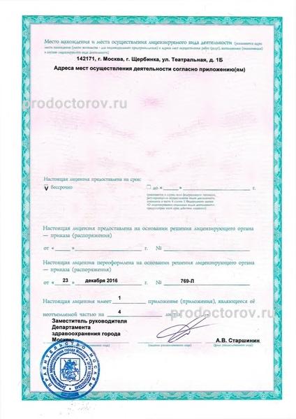 Справка 086 у Улица Чайковского (город Щербинка) медицинская справка для работы пролетарская