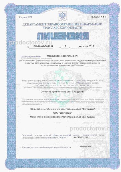 Стоматология Дентлайн Ярославль цены.